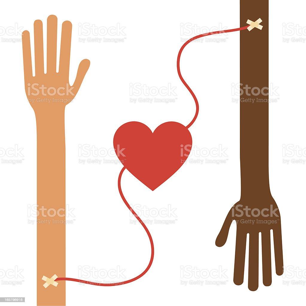 blood donation, transfusion vector art illustration