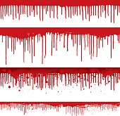 Blood drips and splatters