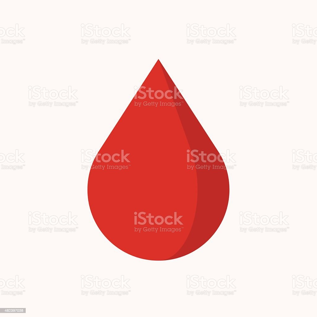 Blood drop icon, modern minimal flat design style, vector illustration vector art illustration