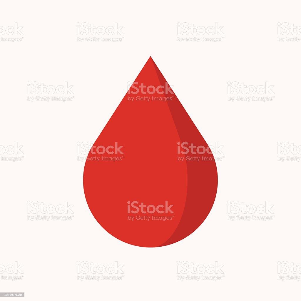 Blood drop icon, modern minimal flat design style, vector illustration vector art illustration