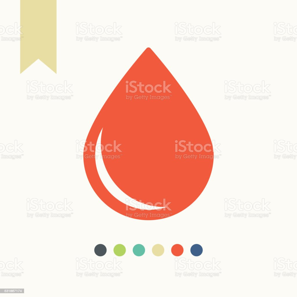 Blood drop icon vector art illustration