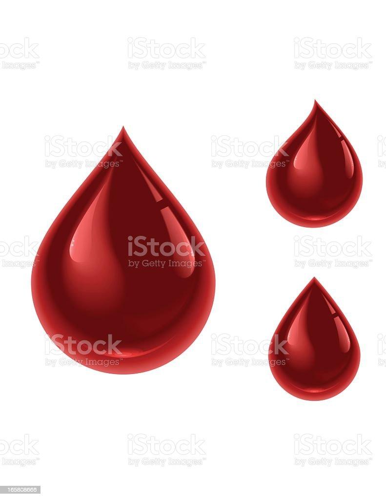 Blood Drop vector art illustration