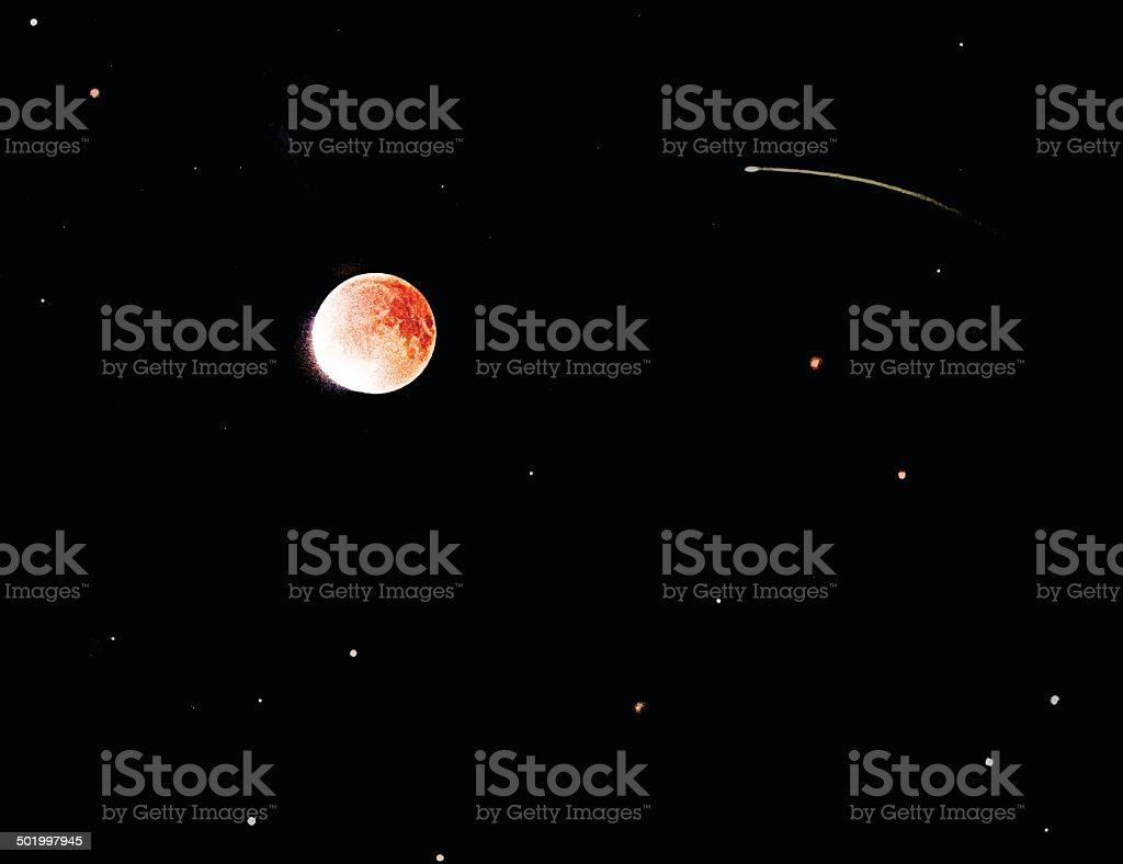 Blood Moon Eclipse royalty-free stock vector art