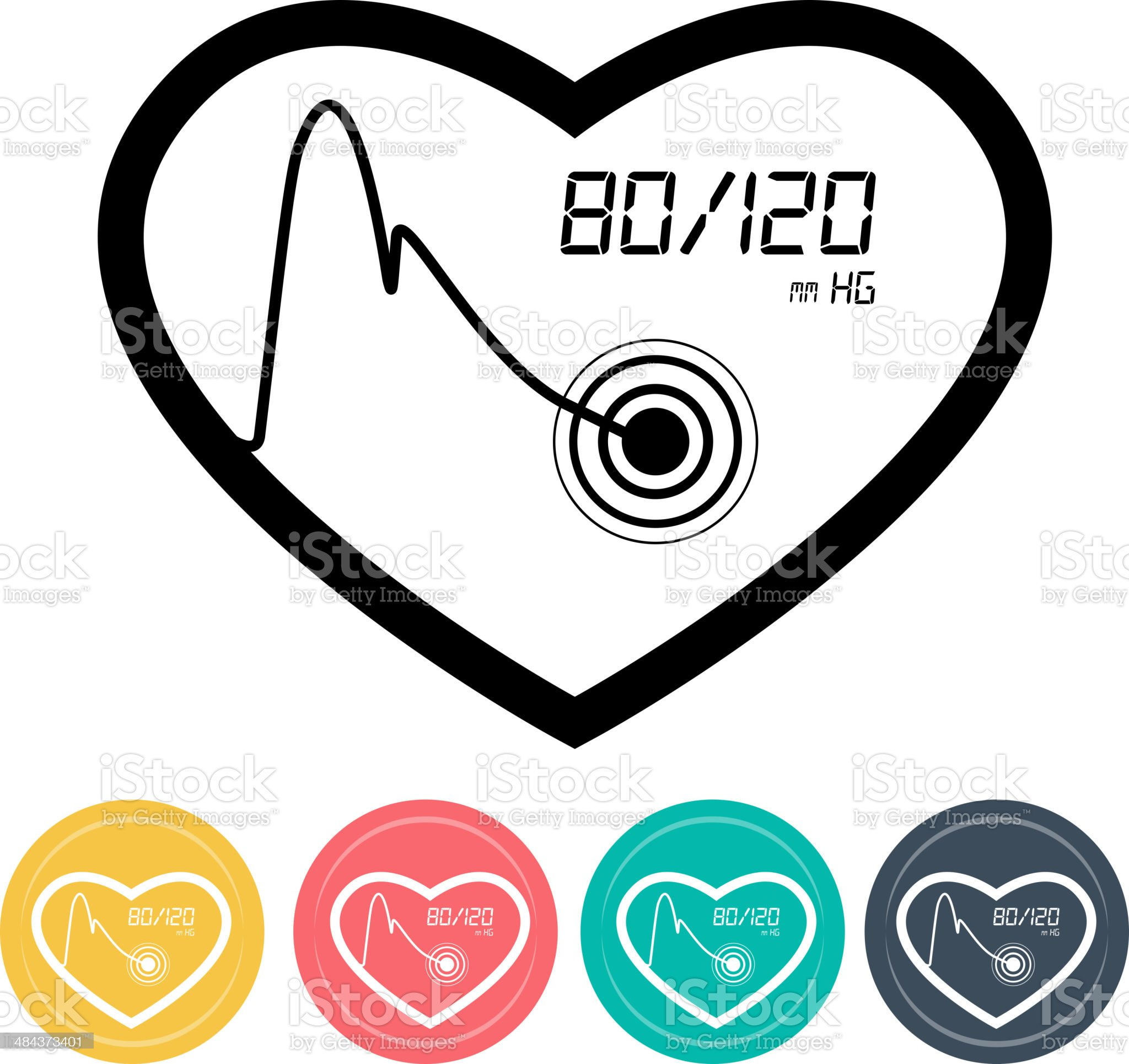 Blood Pressure Monitoring Icon royalty-free stock vector art