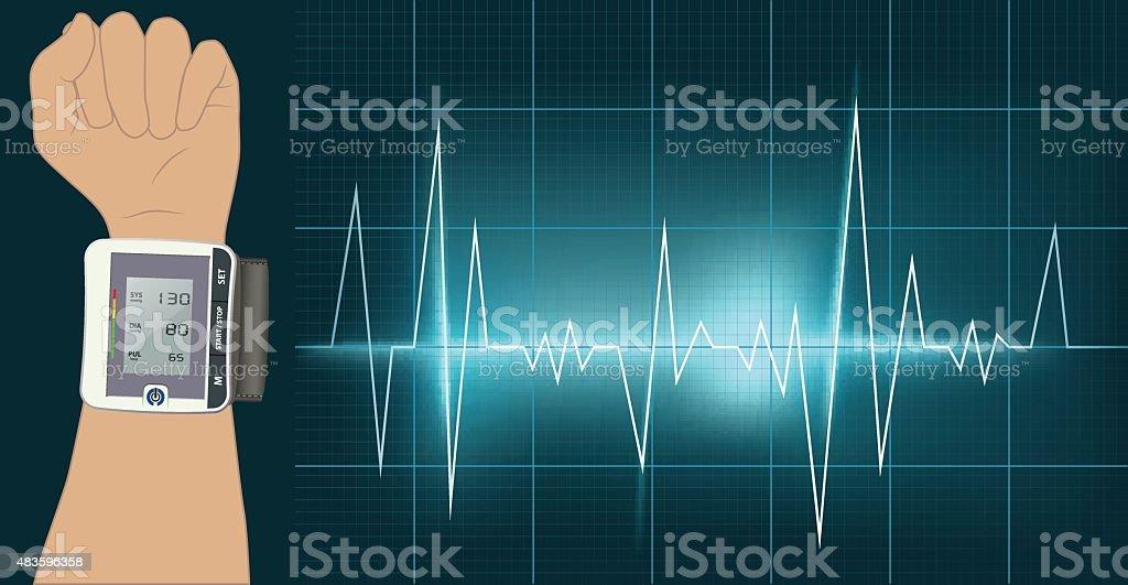Blood Pressure vector art illustration