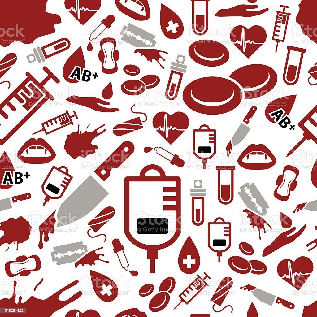 blood seamless pattern vector art illustration