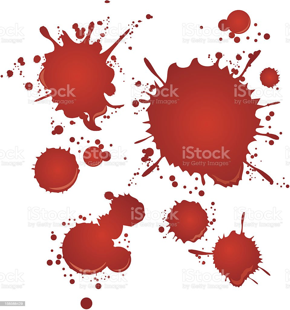 blood set Vector vector art illustration