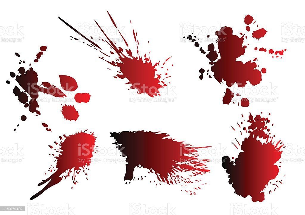 blood spatter vector art illustration