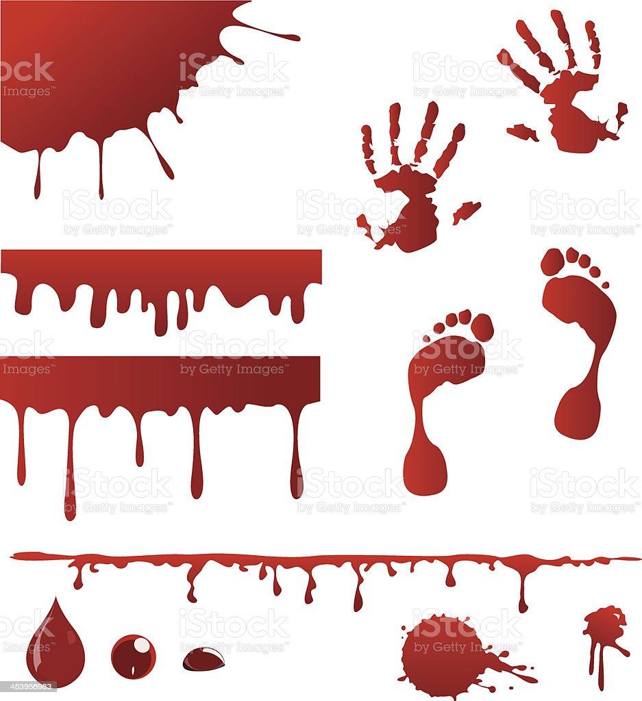 Blood spatters vector art illustration