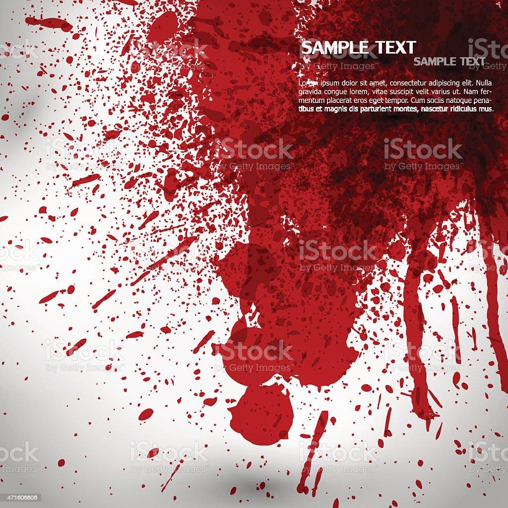Blood splash and splatter vector vector art illustration