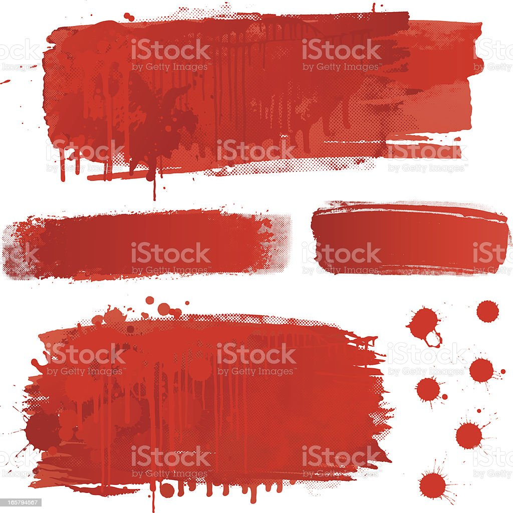 Blood splatter backgrounds vector art illustration
