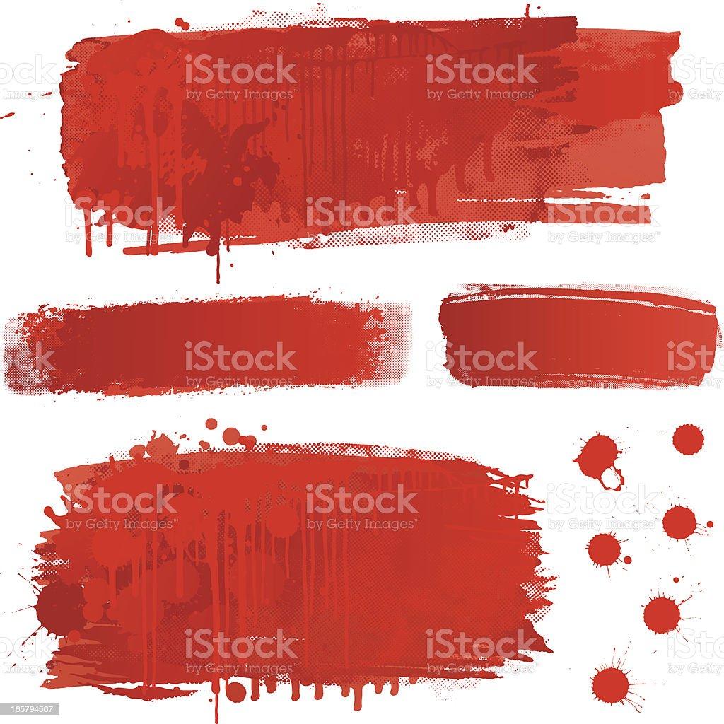 Blood splatter backgrounds vector art illustration