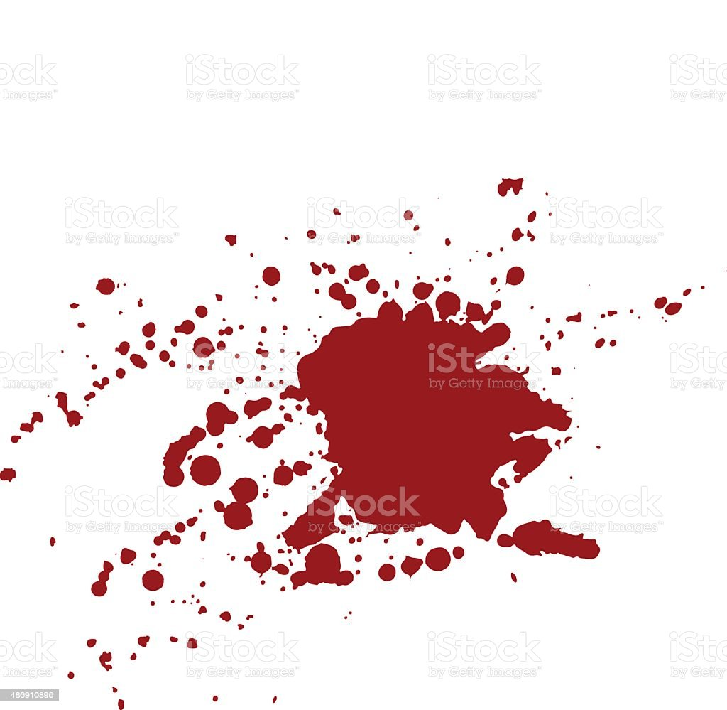 Blood stains isolated on white background vector art illustration