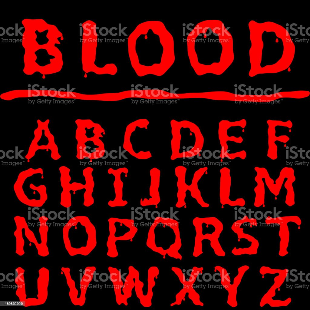 Blood text vector art illustration