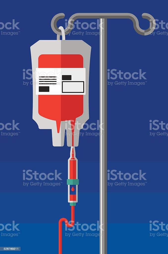 Blood Transfusion vector art illustration