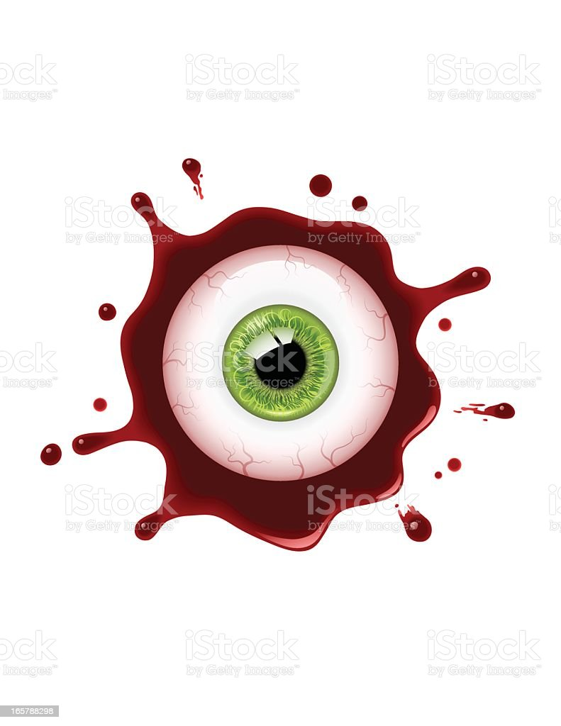 Bloody Eyeball vector art illustration