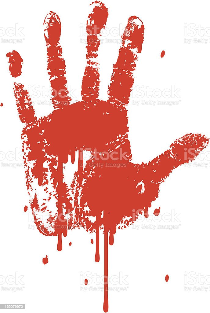 Bloody Hand royalty-free stock vector art