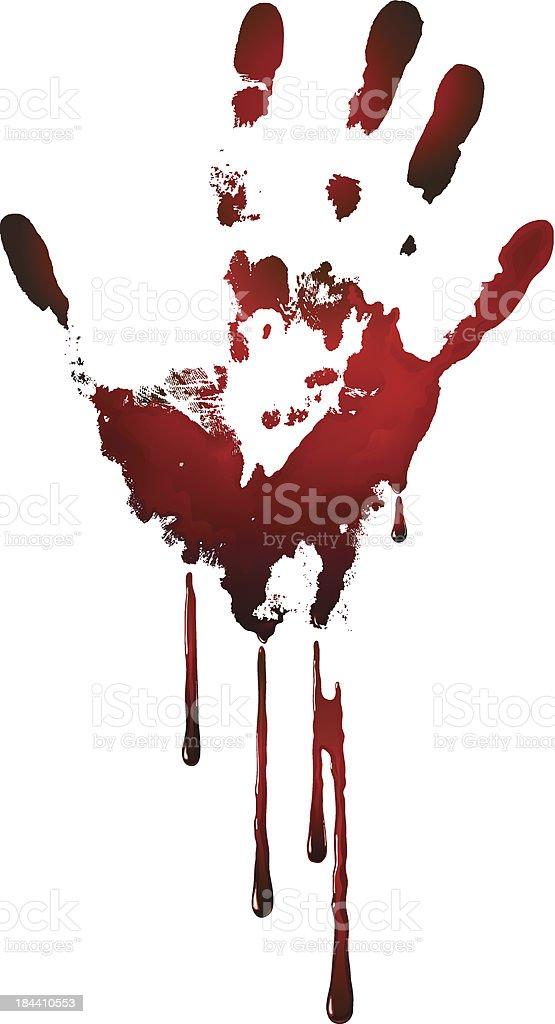 bloody handprint vector art illustration