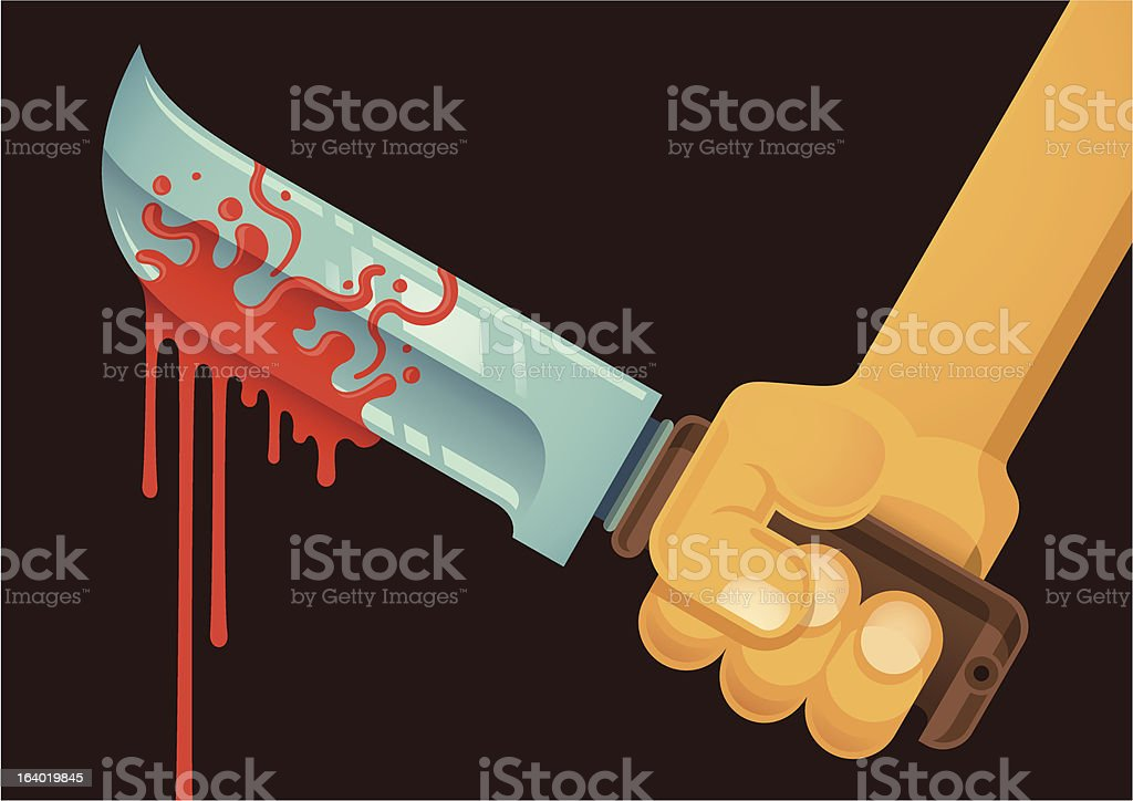 Bloody knife. royalty-free stock vector art