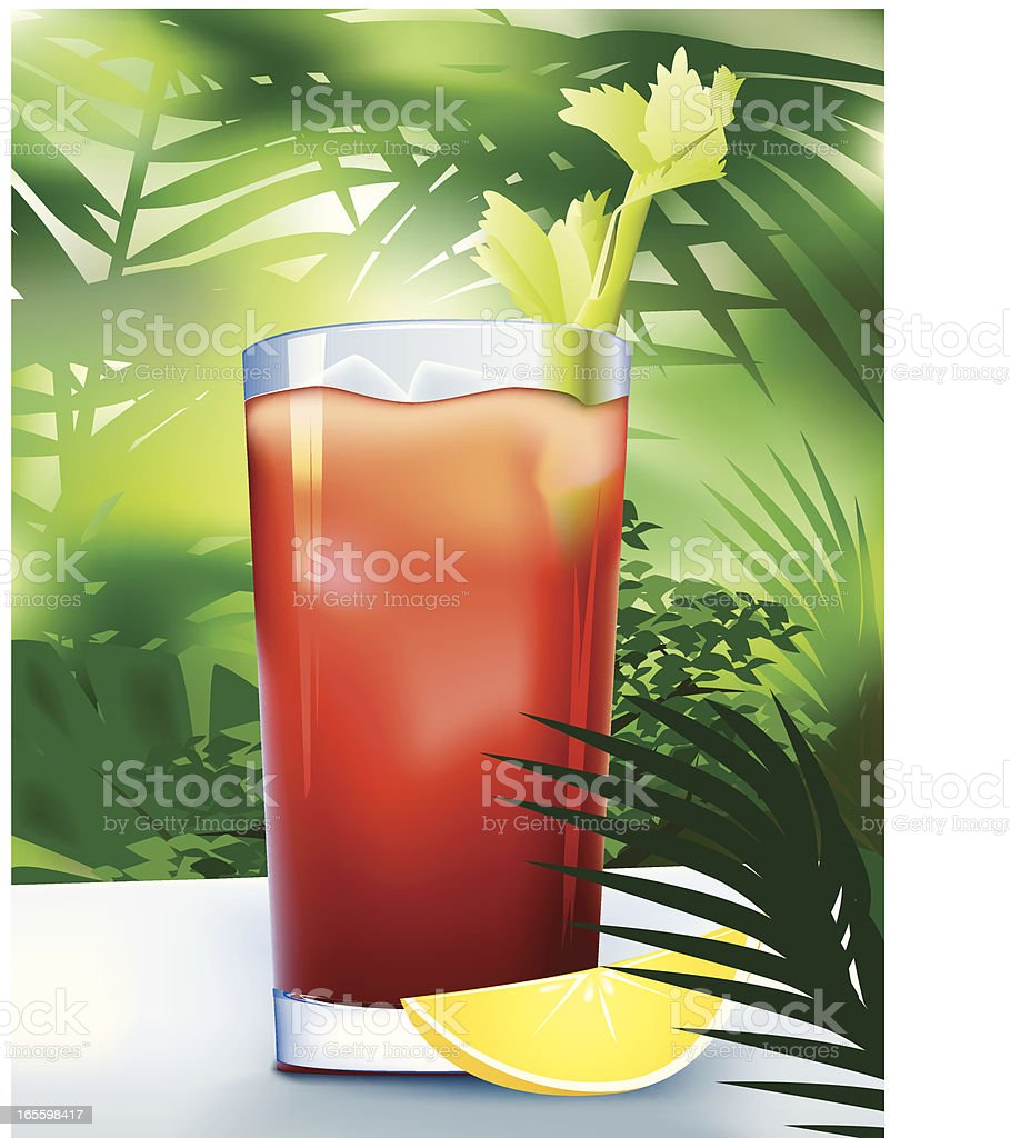 Bloody Mary in Tropical Paradise vector art illustration