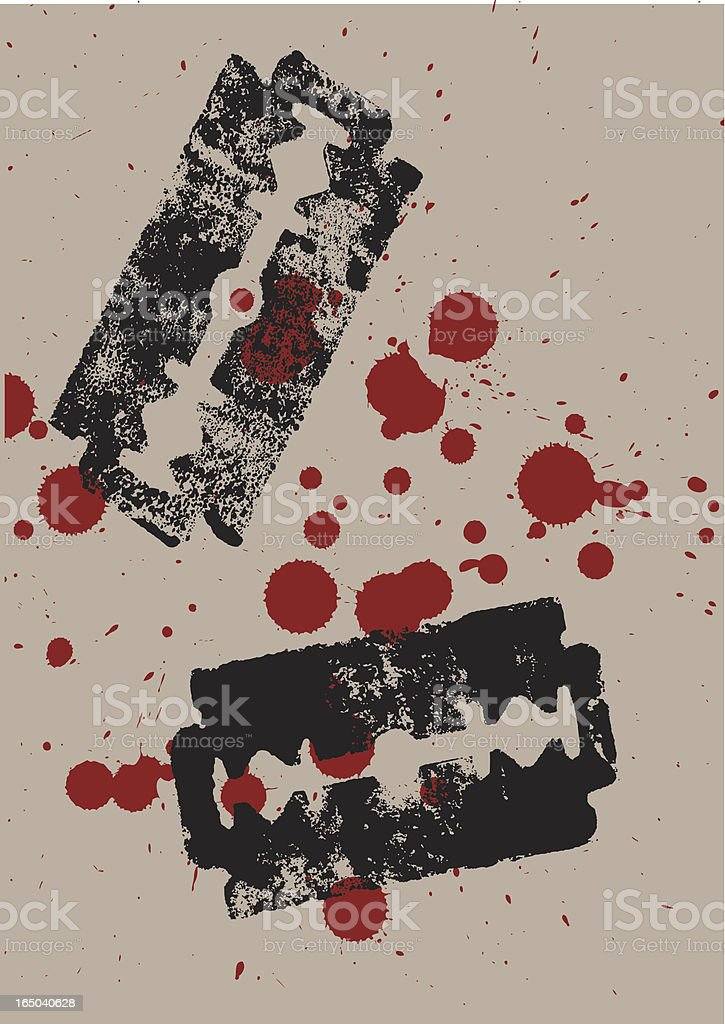 bloody razors royalty-free stock vector art