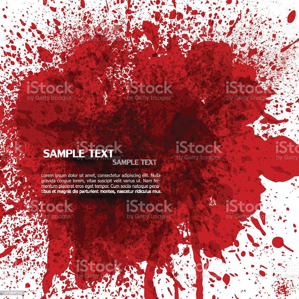 Bloody splashes vector art illustration