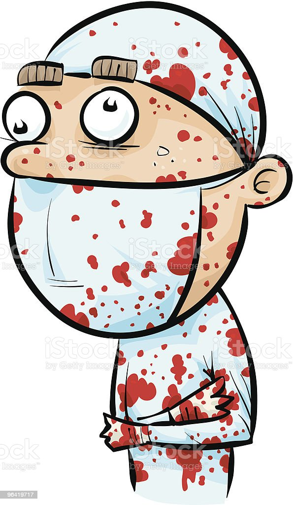 Bloody Surgeon royalty-free stock vector art