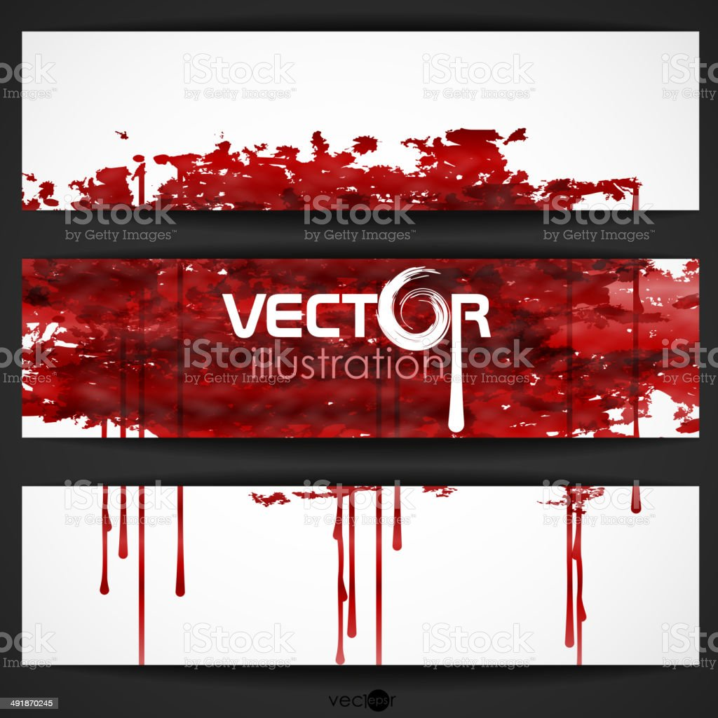Bloody Watercolor Spots. royalty-free stock vector art