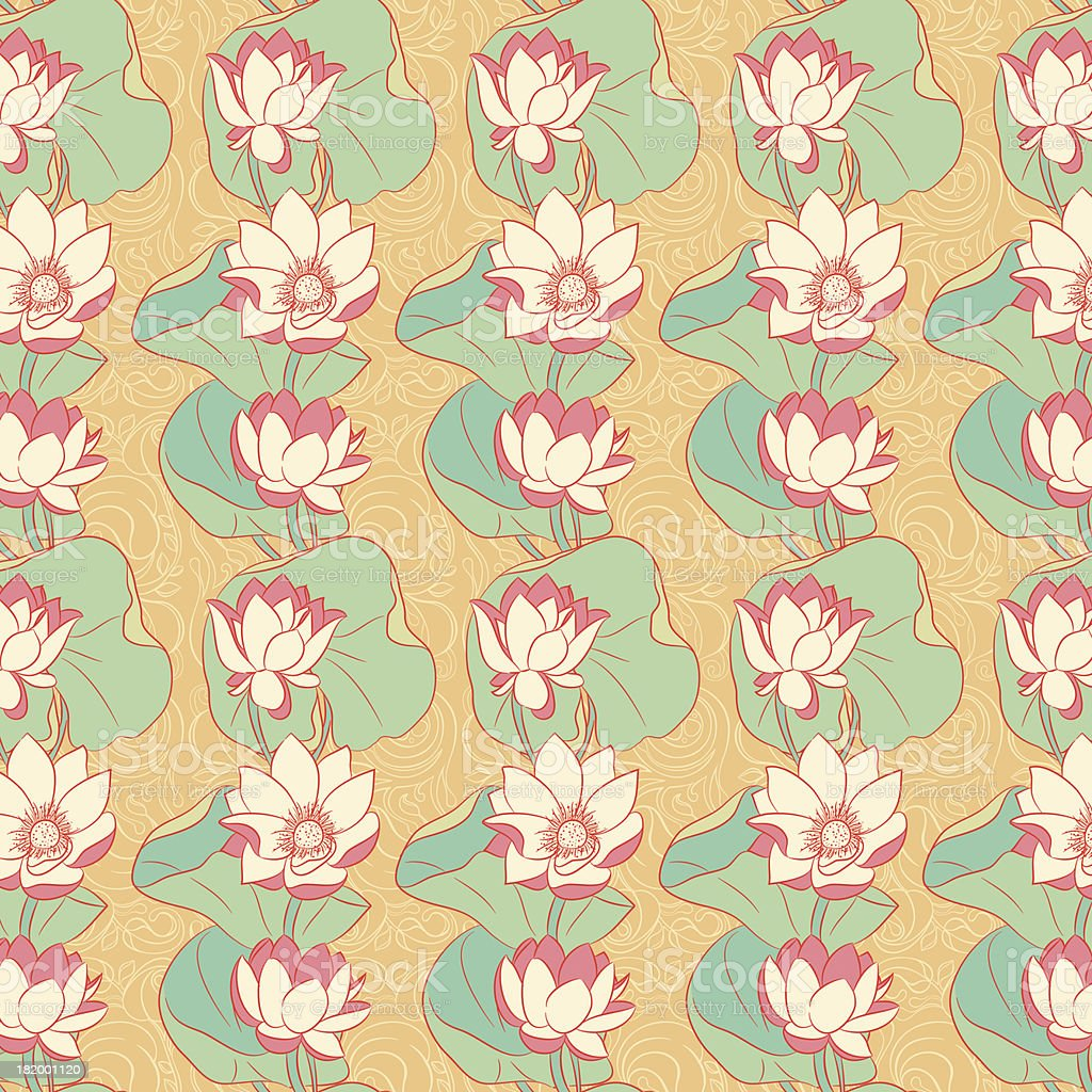 blooming lilies royalty-free stock vector art