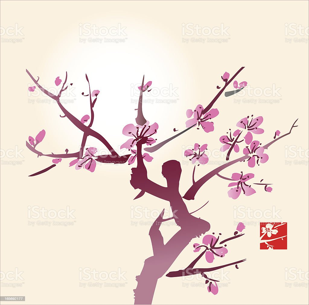 Blossom and Sun royalty-free stock vector art