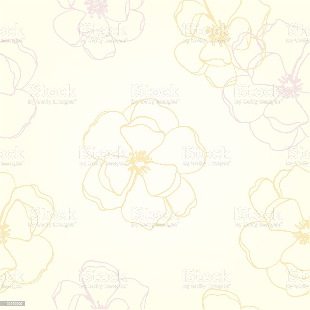 Blossom Background vector art illustration