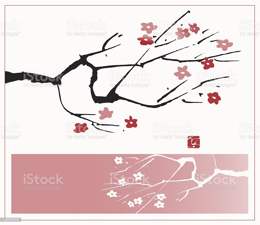 Blossom Branch royalty-free stock vector art