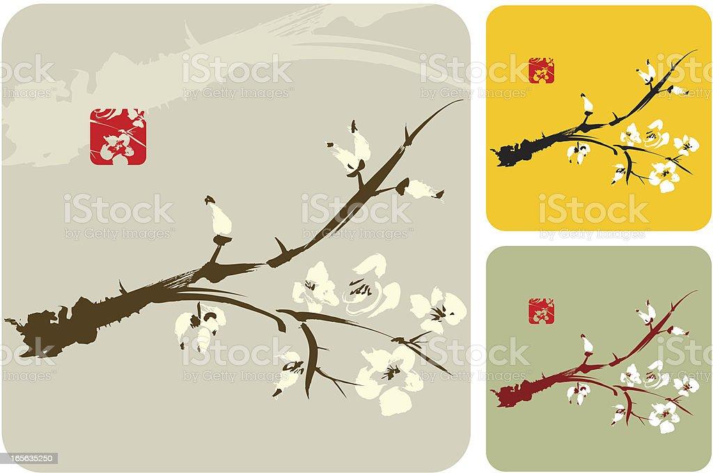 Blossom Design vector art illustration