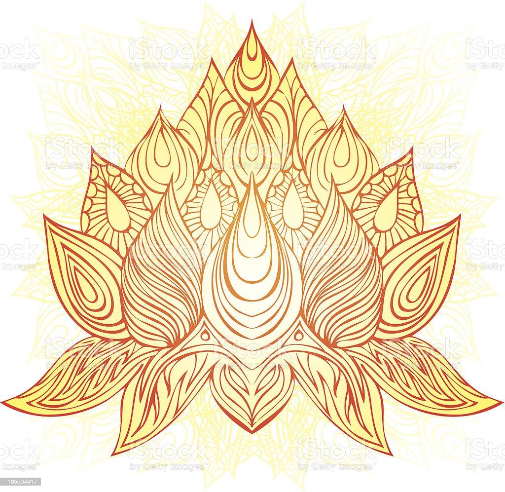 blossom of gratitude royalty-free stock vector art