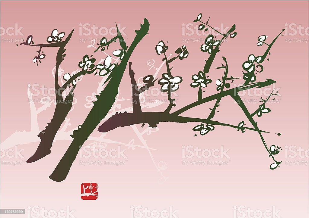Blossom Painting royalty-free stock vector art