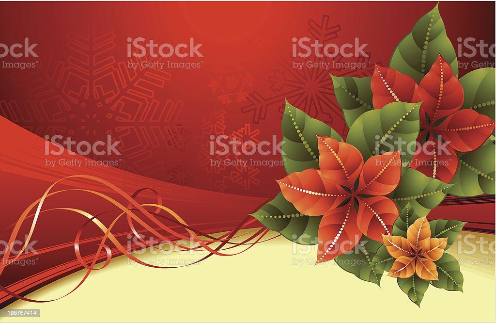 Blossom poinsettia royalty-free stock vector art