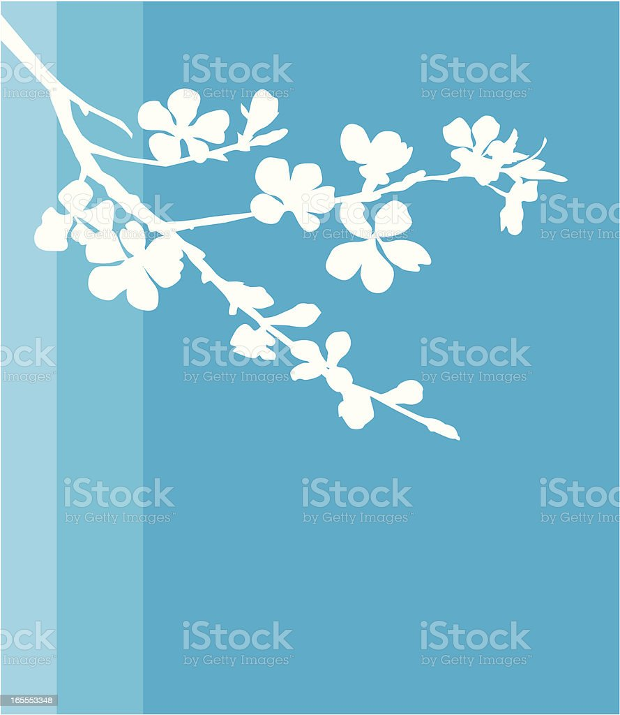 Blossomed apple tree royalty-free stock vector art