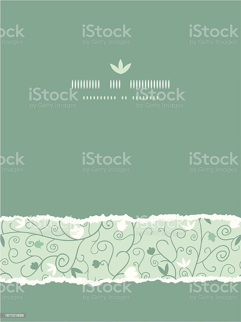 Blossoming  Branches Vertical Torn Seamless Pattern Background royalty-free stock vector art