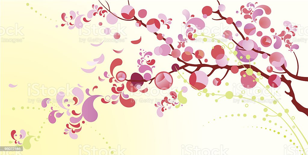 Blossoming cherry royalty-free stock vector art