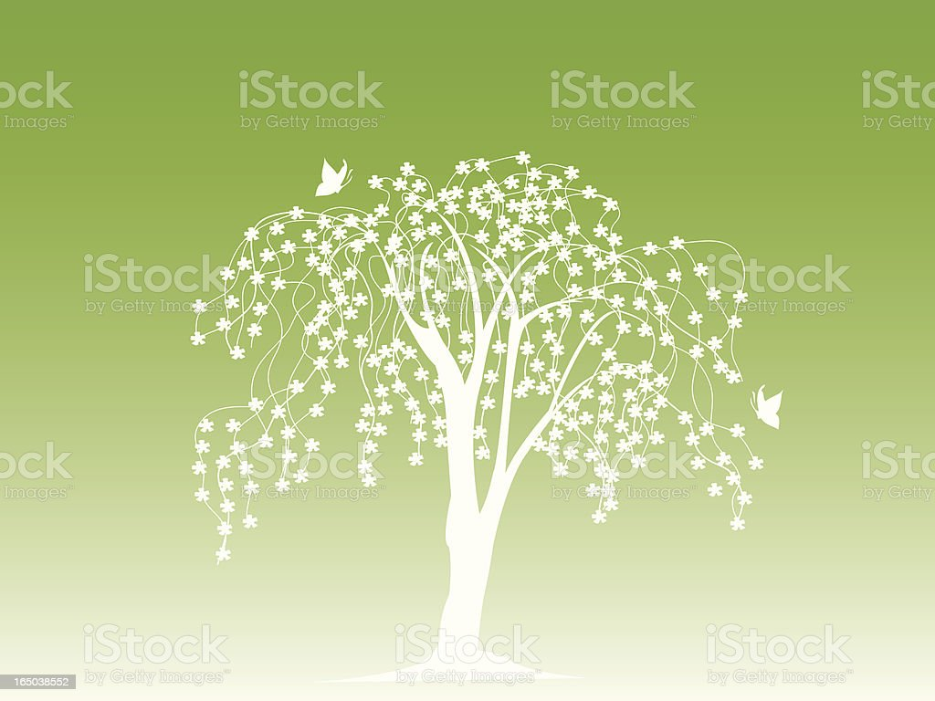 Blossoming Tree Background royalty-free stock vector art