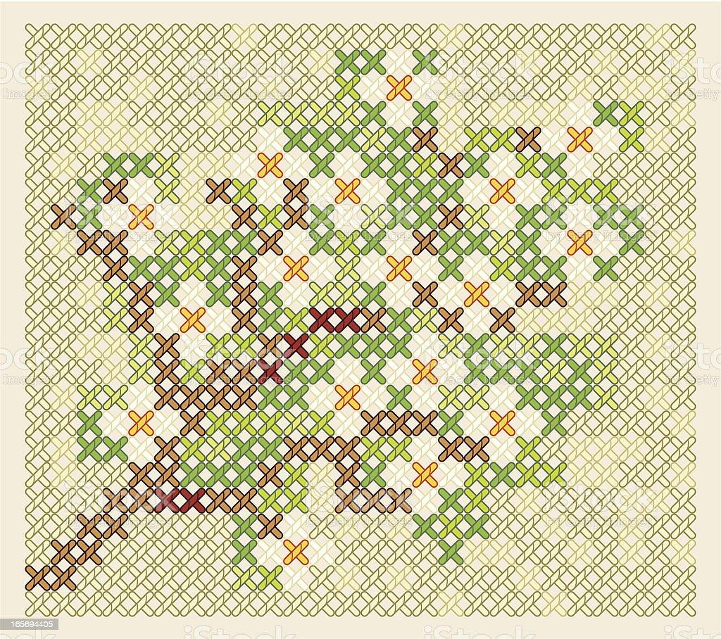Blossoming tree. royalty-free stock vector art