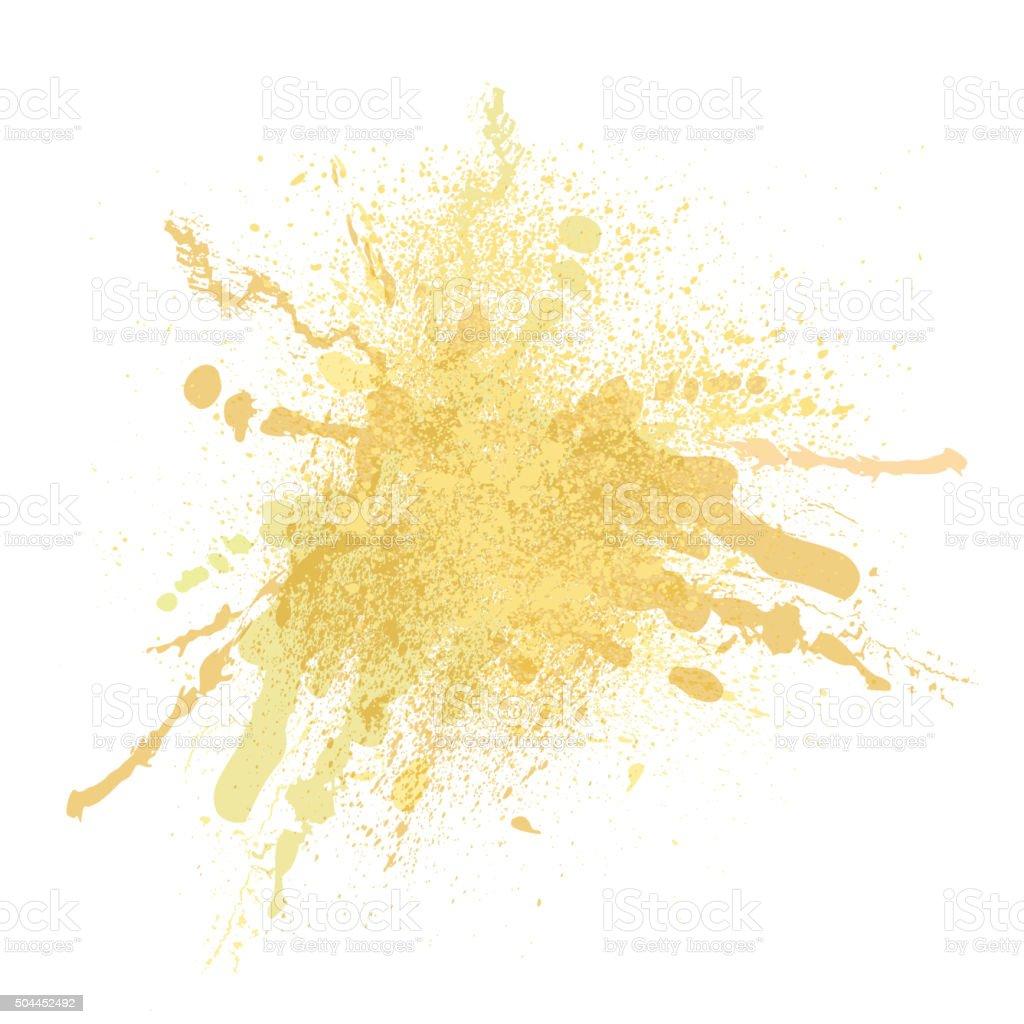 blot00yellow vector art illustration