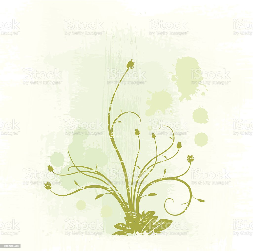 Blots and roses. royalty-free stock vector art