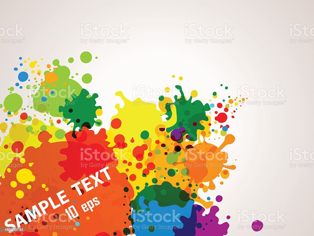 Blots background vector art illustration