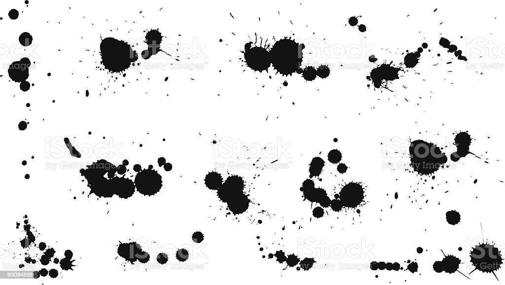 blots from a brush royalty-free stock vector art