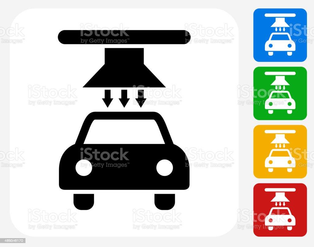 Blow Dry Car Wash Icon Flat Graphic Design vector art illustration