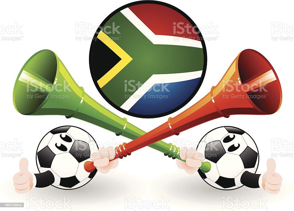 Blow the vuvuzela royalty-free stock vector art
