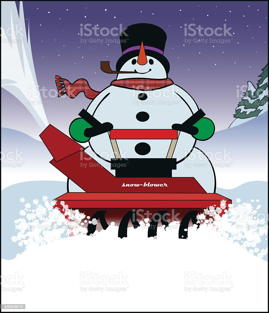 Blowing Snow vector art illustration