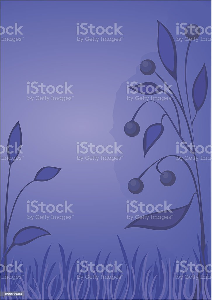 Bluberry floral ornament royalty-free stock vector art