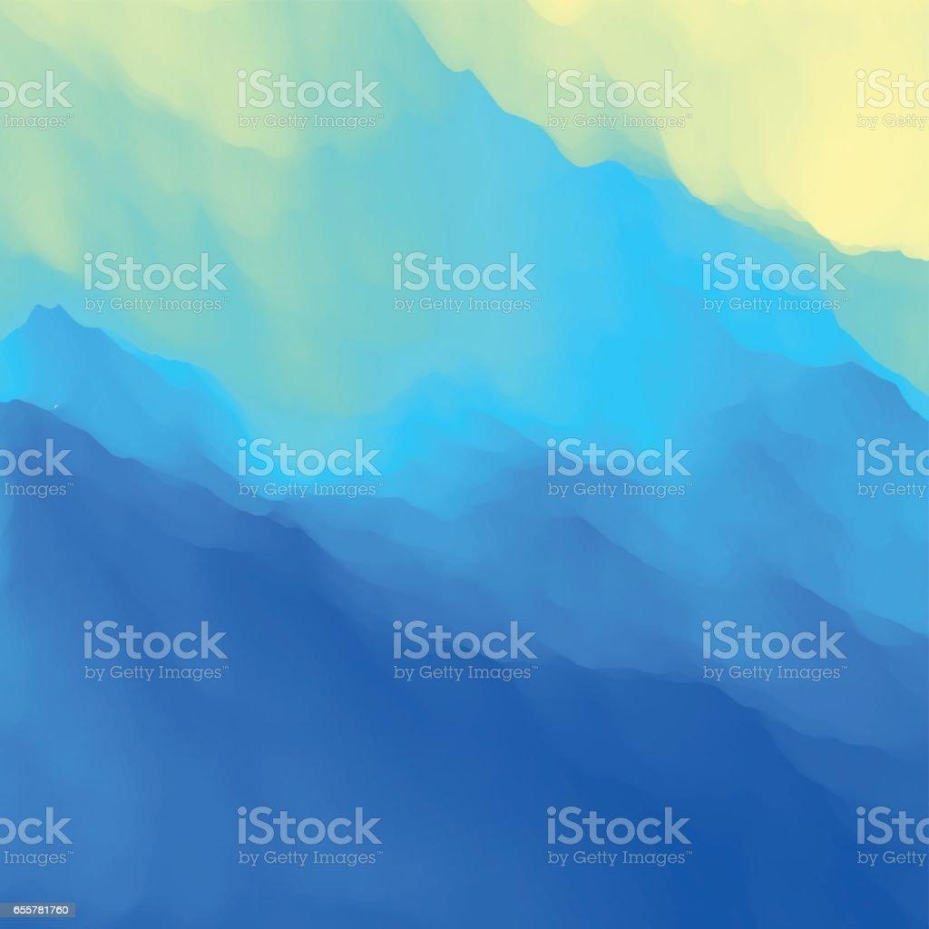 Blue Abstract Background. Design Template. Modern Pattern. vector art illustration